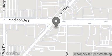 Map of 5044 Madison Ave in Sacramento
