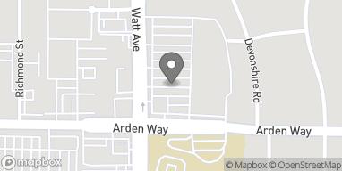Map of 3521 Arden Way in Sacramento