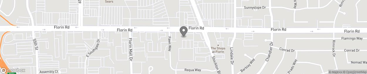 Carte de 6320 Florin Road à Sacramento