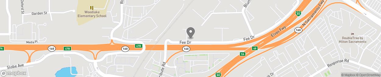 Carte de 955 Fee Drive à Sacramento