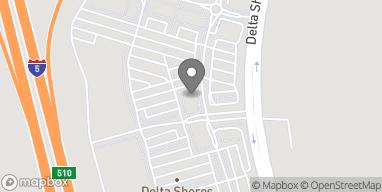 Mapa de 8166 Delta Shores Circle S. en Sacramento