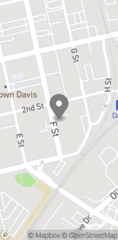 Map of 140 F St in Davis
