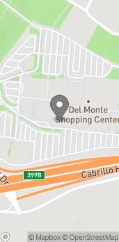 Mapa de 494 Del Monte Center en Monterey