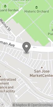 Mapa de 595 Coleman Ave en San Jose