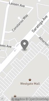 Mapa de 1546 Saratoga Ave en San Jose