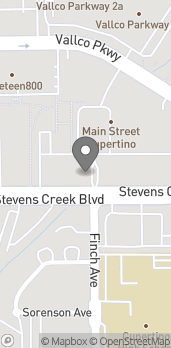 Map of 19479 Stevens Creek Blvd in Cupertino