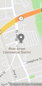 Mapa de 550 River St en Santa Cruz