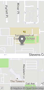 Mapa de 20385 Stevens Creek Blvd en Cupertino