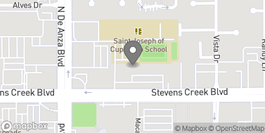 Mapa de 20385 Stevens Creek Blvd en Cupertino