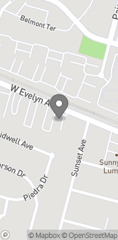 Map of 301 West McKinley Ave in Sunnyvale