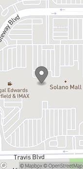 Map of 1350 Travis Blvd in Fairfield
