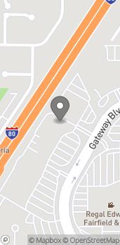 Mapa de 1570 Gateway Blvd en Fairfield