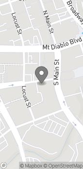 Mapa de 1521 Olympic Blvd en Walnut Creek