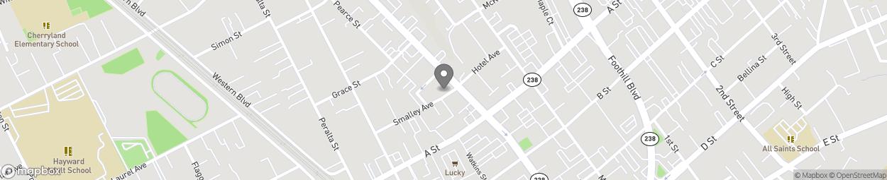 Carte de 22385 Mission Boulevard à Hayward