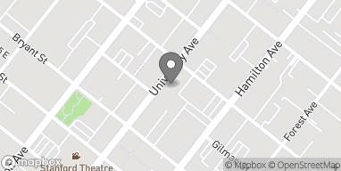 Map of 370 University Ave in Palo Alto