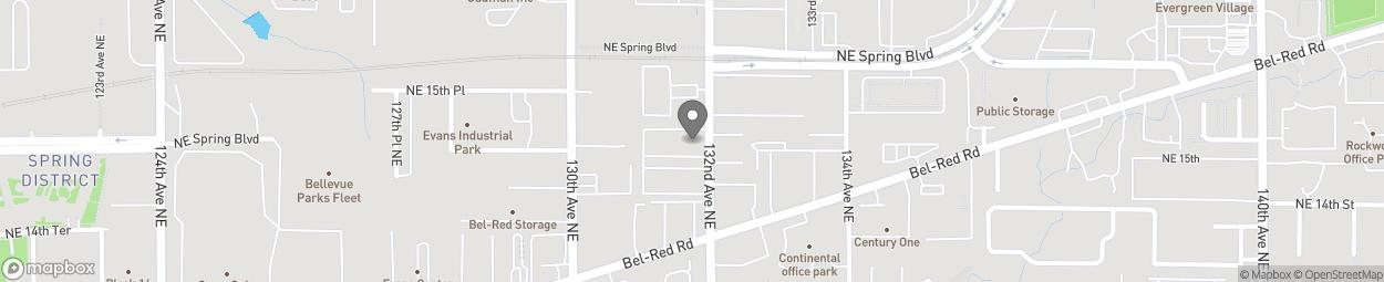 Carte de 1407 132nd Avenue NE à Bellevue
