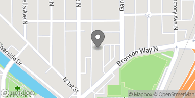 Map of 1222 Bronson Way N in Renton