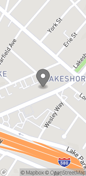 Map of 3333 Lakeshore Ave in Oakland