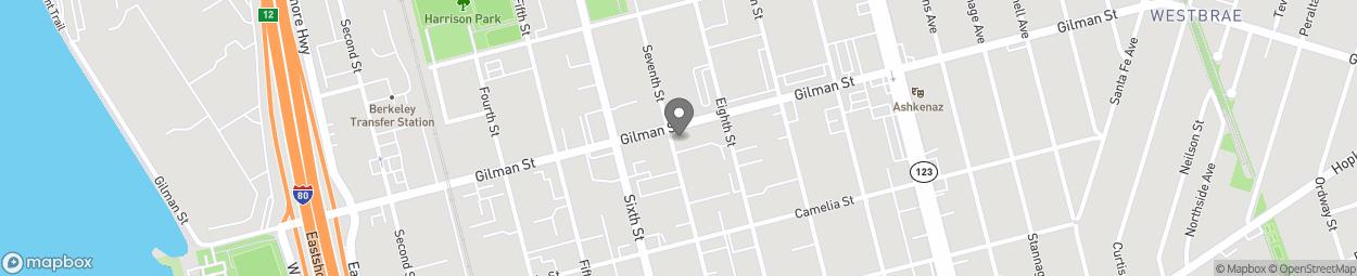 Carte de 900 Gilman St à Berkeley