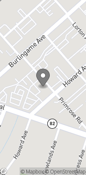 Map of 221 Primrose Rd in Burlingame
