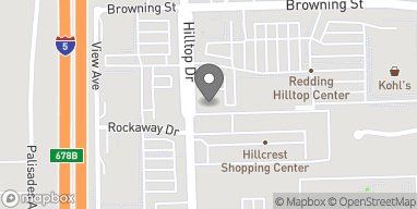 Map of 835 Browning Street in Redding