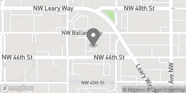 Map of 907 NW Ballard Way in Seattle