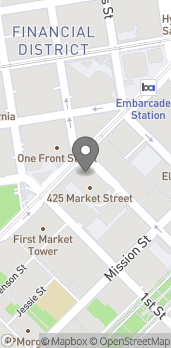 Map of 425 Market St in San Francisco