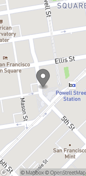 Map of 1 Powell Street in San Francisco
