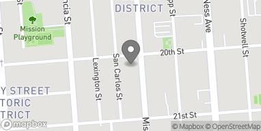 Mapa de 2410 Mission St en San Francisco