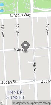 Map of 827 Irving Street in San Francisco