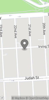 Map of 2025 Irving St in San Francisco