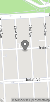 Mapa de 2025 Irving St en San Francisco