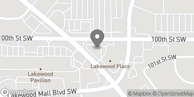 Map of 10009 Bridgeport Way SW in Lakewood