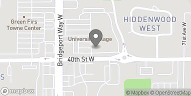 Map of 3915 Bridgeport Way in University Place