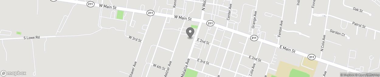 Carte de 122 South Molalla Avenue à Molalla