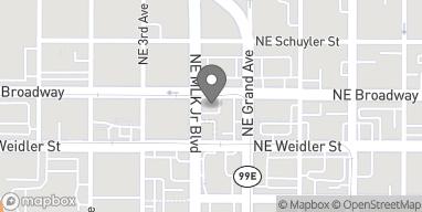 Map of 410 NE Broadway St in Portland