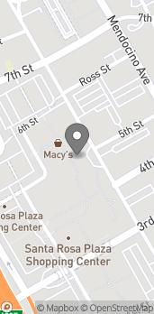 Mapa de 1071 Santa Rosa Plaza en Santa Rosa