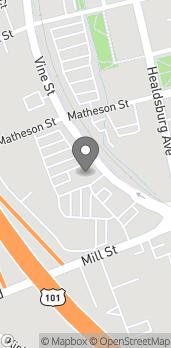Mapa de 1011 Vine St en Healdsburg
