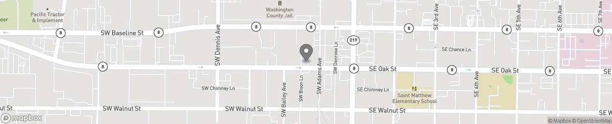 Carte de 235a South West Oak Street à Hillsboro