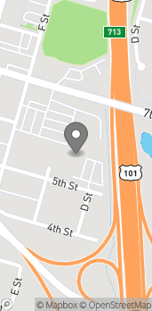 Map of 600 F Street in Arcata