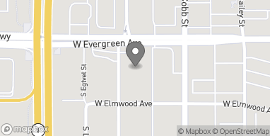 Map of 340 W Evergreen Ave in Palmer