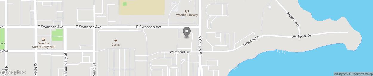 Carte de 790 Swanson Avenue à Wasilla