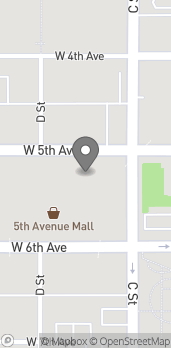 Map of 320 West 5th Ave in Anchorage