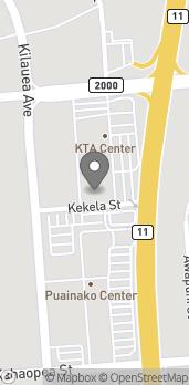 Map of 50 E Puainako Street in Hilo