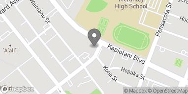 Map of 1067 Kapiolani Blvd in Honolulu