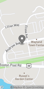 Map of 35 Andrew Avenue in Wayland