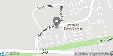 Mapa de 35 Andrew Avenue en Wayland
