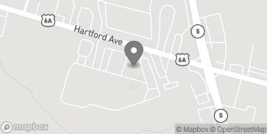 Map of 1450 Hartford Ave in Johnston