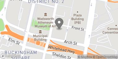 Mapa de 10 Prospect Street en Hartford
