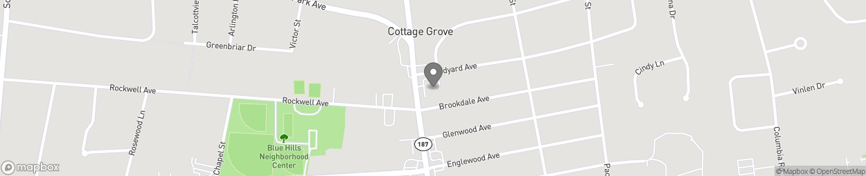 Map of 1024 Blue Hills Ave in Bloomfield
